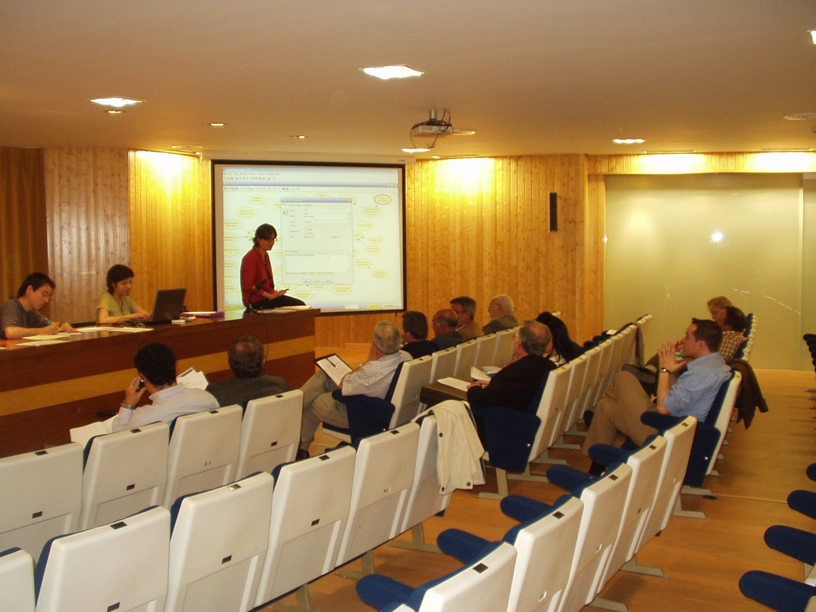 The picture was taken during the meeting in Ciudad Real (May 10, 2007).